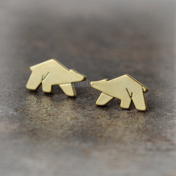 Tiny Polar Bear Earrings