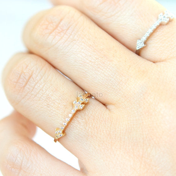 CZ Arrow Ring