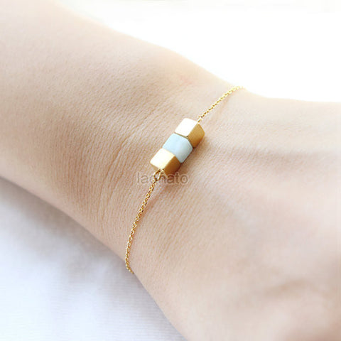 Diamond Shape Bracelet / choose your color, gold and silver