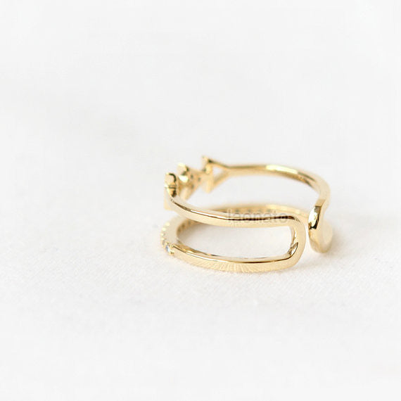 Arrows double line ring