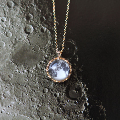 Round Sun and Moon Necklace