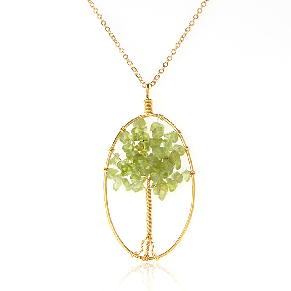 Peridot Tree of Life Necklace