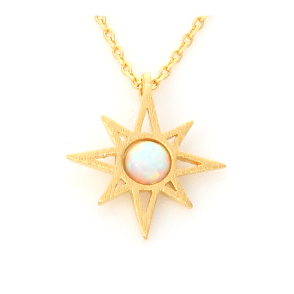 Round Opal Sunshine Necklace