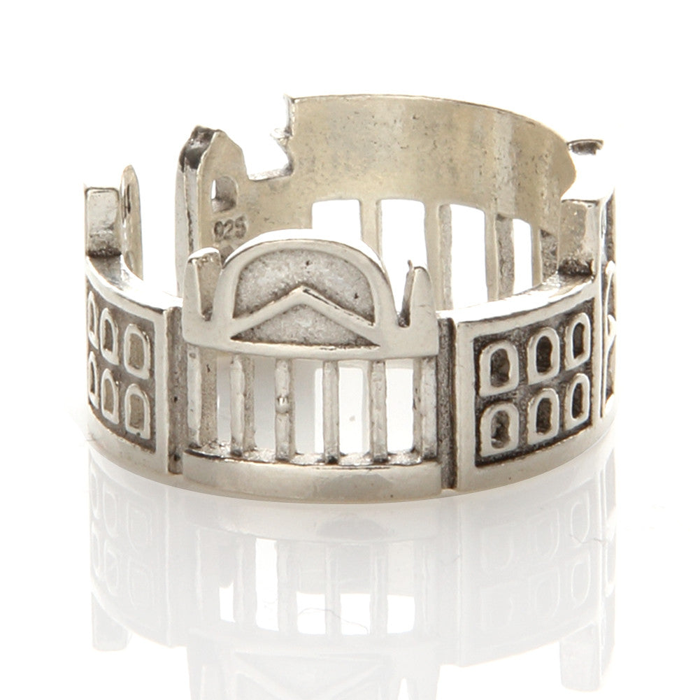 N001 Buildings Skyline Ring 925 Sterling Silver