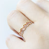 Textured Wave Thin Ring 925 sterling silver