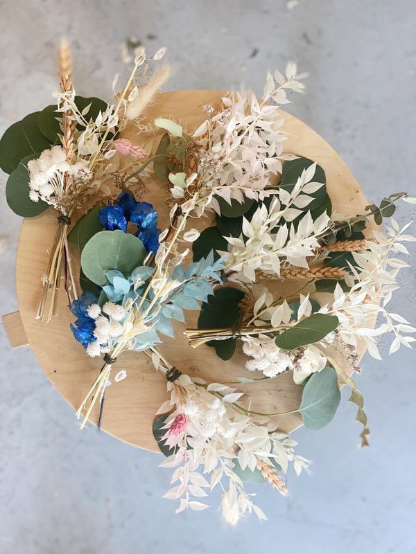 Dried Flower Bud Vase Arrangement
