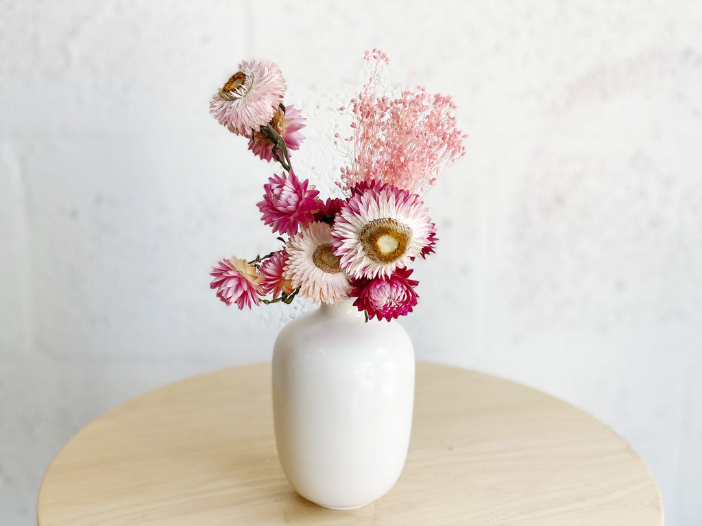 Plum Mini Dried Flower Arrangement