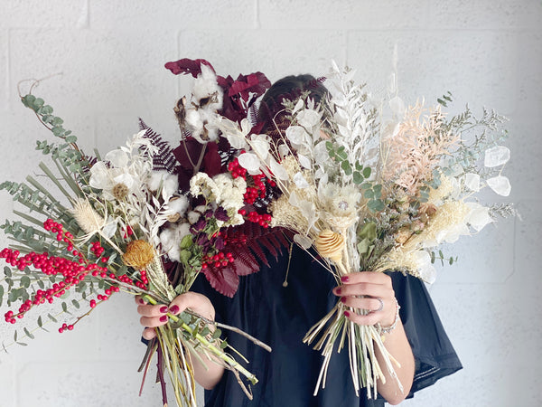 Winter Dried Flower Collection Bunches - Shipping