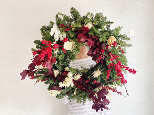 Seasonal Winter Holiday Wreath - Local Delivery or Pickup