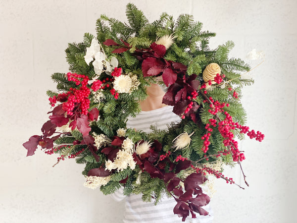 Seasonal Winter Holiday Wreath - Shipping