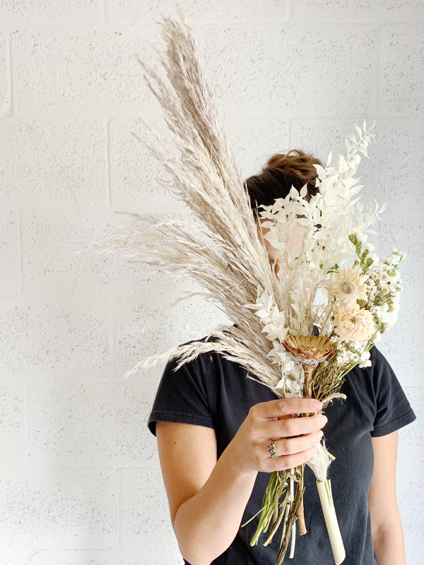 Fall Pampas Dried Flower Bunch - Shipping