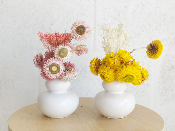 Cotton Candy Dried Flower Arrangements
