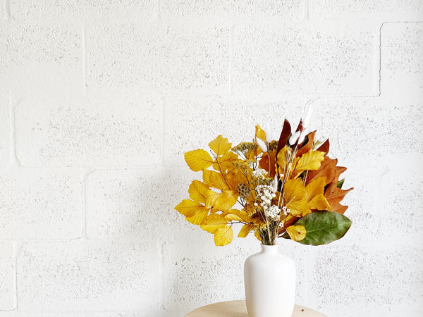 Fall Magnolia Dried Flower Bunch