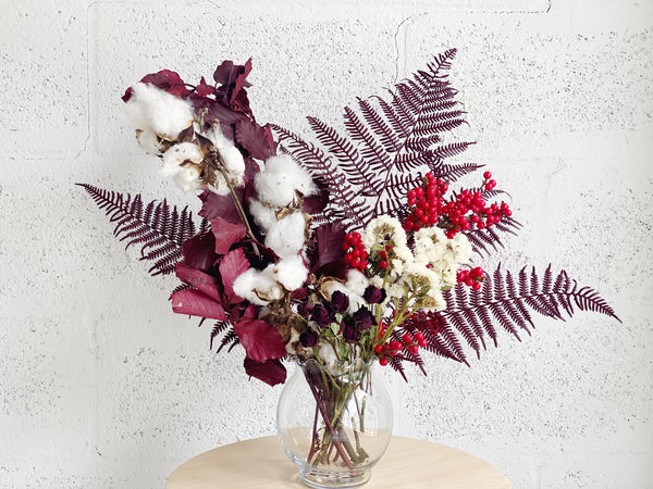 Winter Dried Flower Arrangement