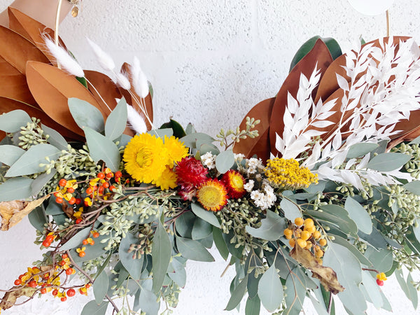 Seasonal Fall Wreath - Local Delivery or Pickup