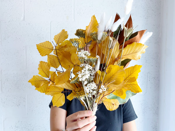 Fall Magnolia Dried Flower Bunch - Shipping