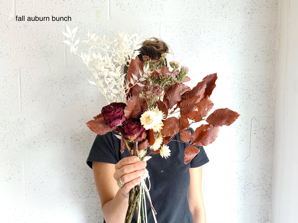 Fall Dried Flower Collection Bunches