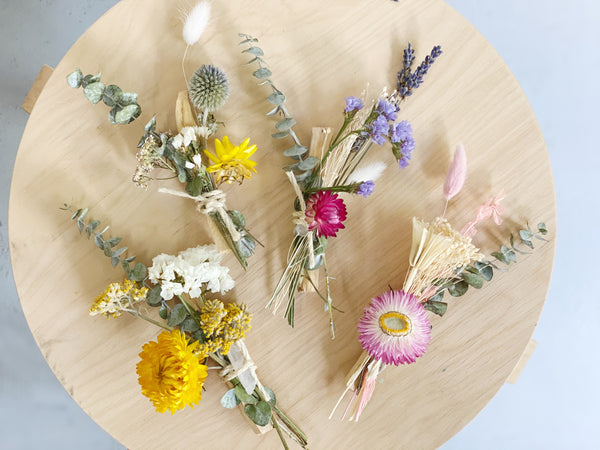 Dried Flower Palo Santo Bundle