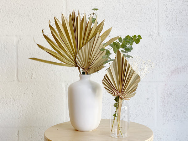 Palm Dried Flower Collection (with vase)