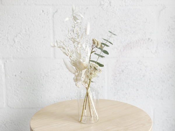 Dried Flower Bud Vase Arrangement - Shipping