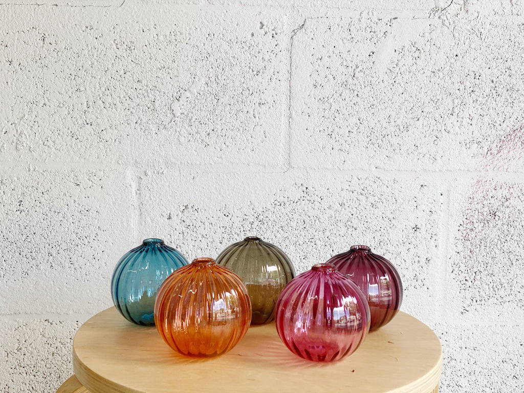 Little Tomato Glass Round Glass Vases
