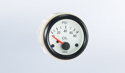 VDO Cockpit White Series Oil Pressure Gauge