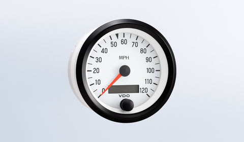 VDO Cockpit White Series Speedometer