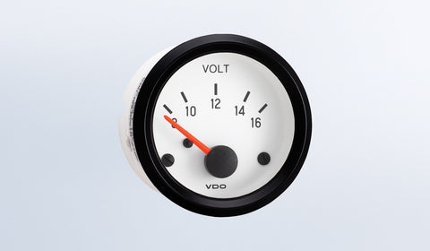VDO Cockpit White Series Voltmeter