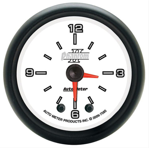 Autometer Phantom II Series Clock