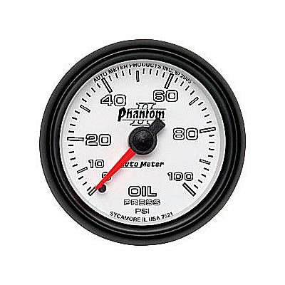 Autometer Phantom II Series Oil Pressure Gauge