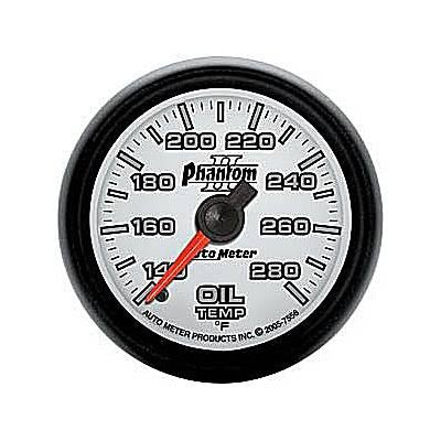 Autometer Phantom II Series Oil Temperature Gauge