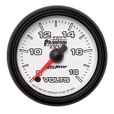 Autometer Phantom II Series Voltmeter
