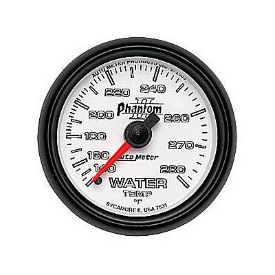 Autometer Phantom II Series Water Temperature Gauge