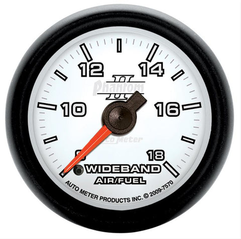 Autometer Phantom II Series Wideband Air Fuel Ratio Gauge