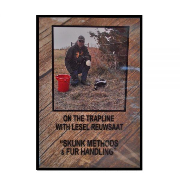 "Lesel Reuwsaat's ""Skunk Methods & Fur Handling"" DVD - Southern Snares & Supply"