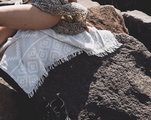 Aztec Beach Blanket - Grey
