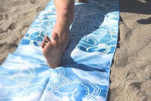 Microfiber Yoga Towel - Breathe Print