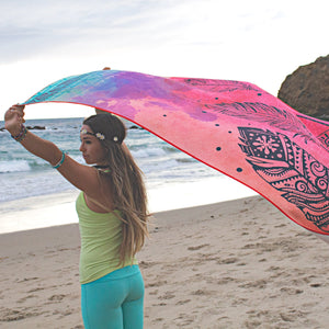 MicroFiber Yoga Towel - Dream Weaver Print