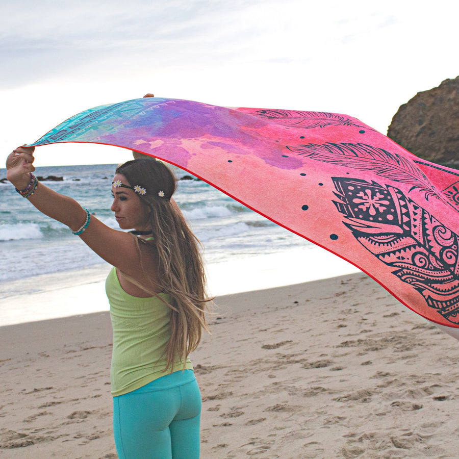 Yoga Towel - Dream Weaver Print