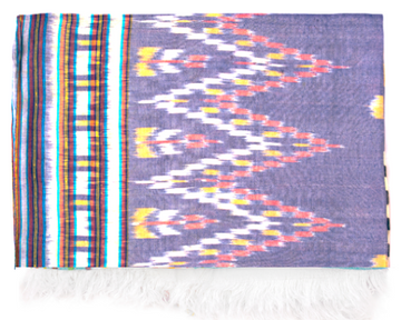 Ikat Beach Throw -  Indigo