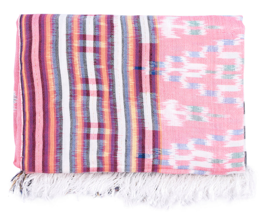 Ikat Beach Throw - Coral