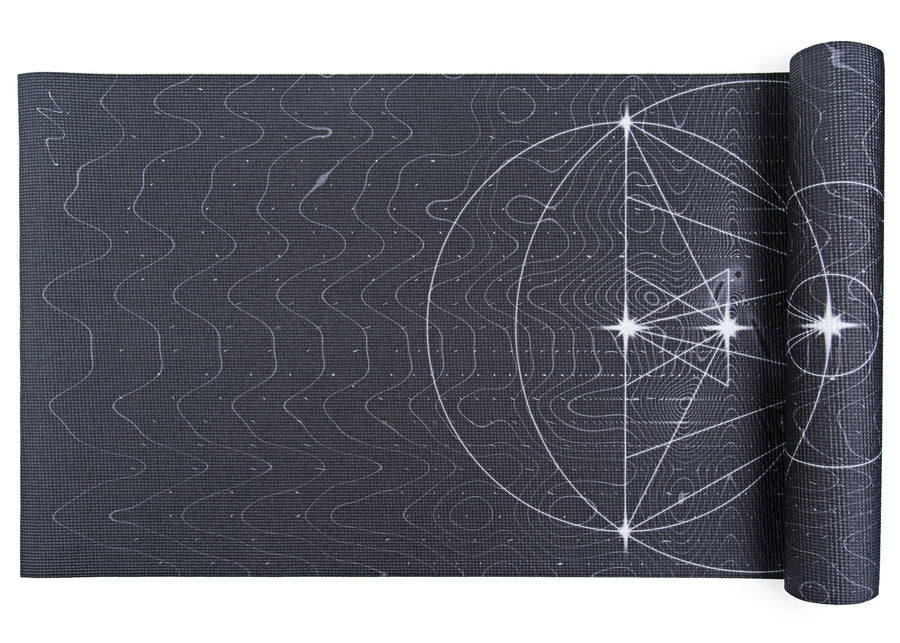 Signature Yoga Mat - Night Orbit by Joyce Su