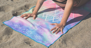 MicroFiber Yoga Towel - Twilight Print