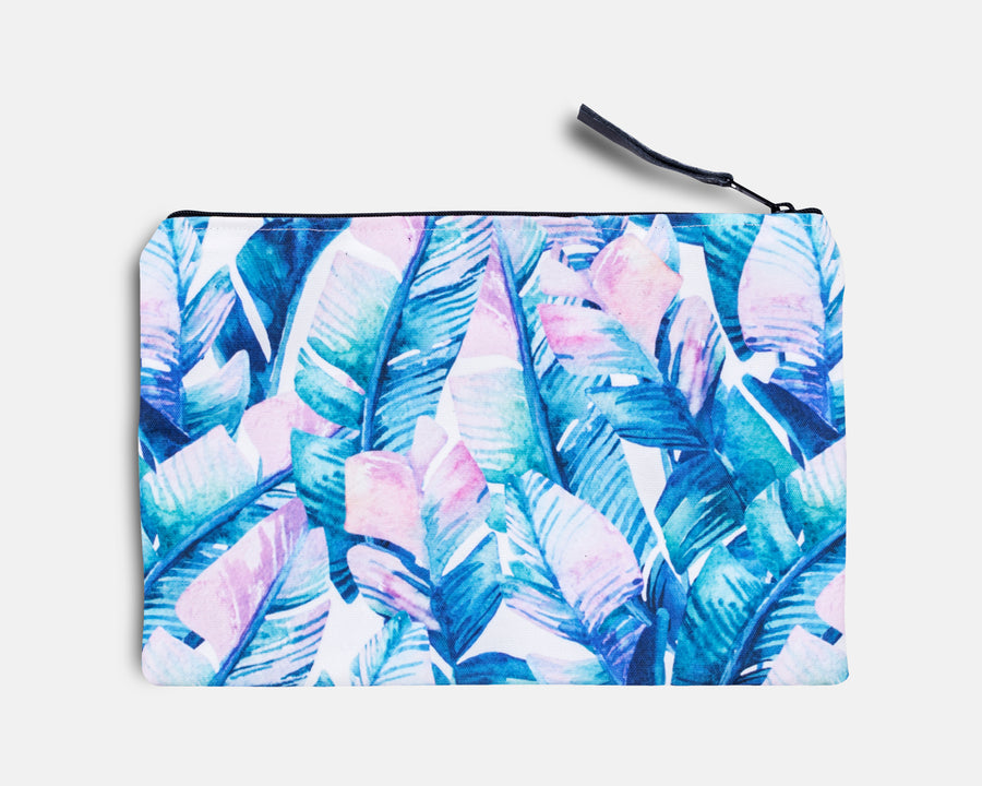 Canvas Workout Pouch - Bali Palm Print