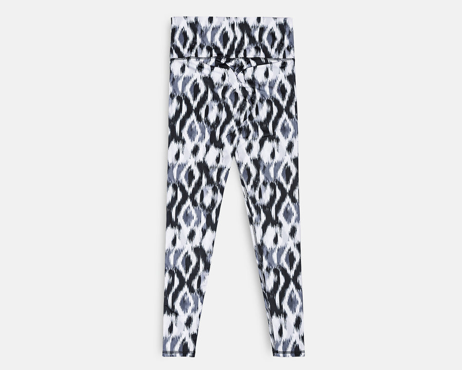 Charly Legging in Blurred Ikat Print