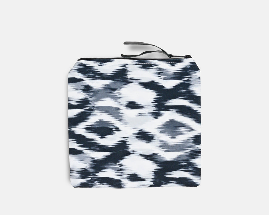 Canvas Bikini Bag - Blurred Ikat Print