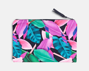 Canvas Workout Pouch - Fiji Garden Print
