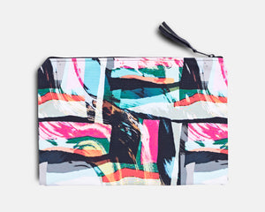 Canvas Workout Pouch - Jungle Abstract Print