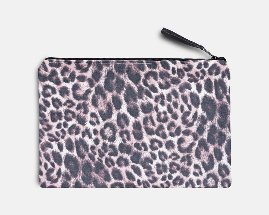 Canvas Workout Pouch - Leopard Print