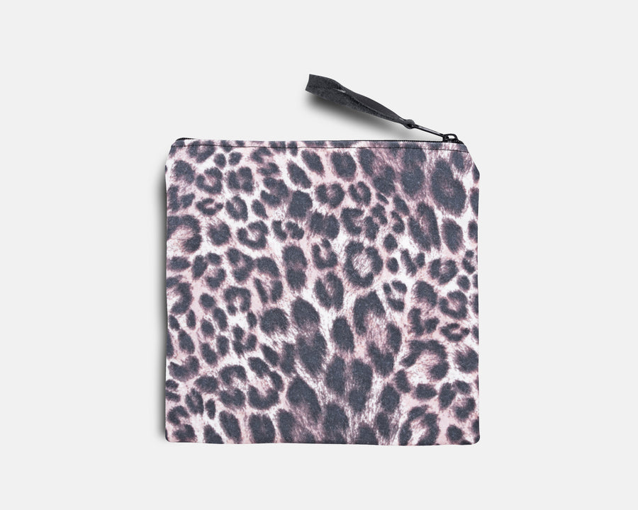 Canvas Bikini Bag - Leopard Print